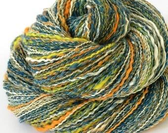 Handspun Yarn - Merino and Silk Yarn - Spindle Spun Yarn - Sport - 1.16oz, 156yd, 20 WPI,