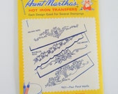Vintage Iron On Transfers • Embroidery Patterns • Aunt Martha's Linen Patterns