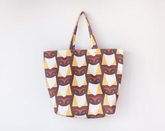 Owl Canvas Bag / Tote Bag / Market Tote (40% OFF)