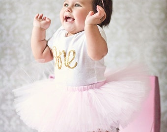 1st Birthday Outfit Tutu, First Birthday Outfit Girl Tutu, Cake Smash Outfit Girl Tutu, SEWN Tutu Skirt, 1st Birthday Tutu, Tulle Skirt