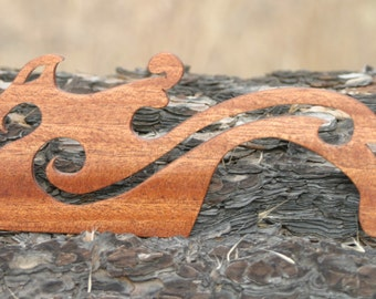 Hand Crafted Dragon African Mahogany / Beaters for Card / Inkle Weaving