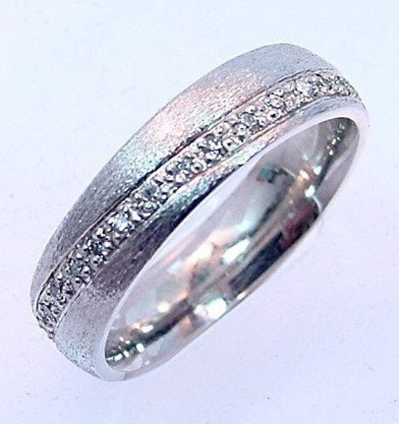 Gents 50 Carat Diamond 14k White Gold Comfort Fit Wedding