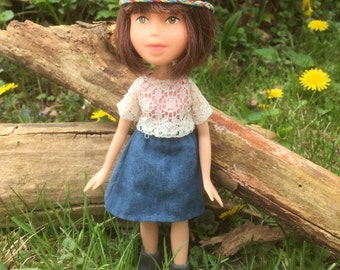 Upcycled, Repainted Bratz Doll, New life for old forgotten doll, Hand painted