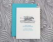 Belated Birthday Zebra with Monkeys - Letterpress Card
