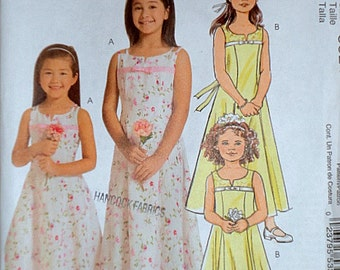 Easy McCall's 5309 Sewing Pattern, Girls' Lined Dresses, Sizes 3-4-5-6, Uncut Factory Folded