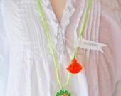 Dinosaur Necklace Tassel Jewelry Animal Necklace Girls Necklace Plastic Animal Necklace Neon Jewelry Boho necklace for kids