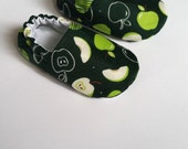 Reversible Baby Shoes, Apple Scented