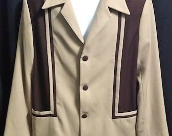 "Fantastic 1950's Reproduction ""Eaton Hall"" Two Tone Hollywood Jacket L/48"""