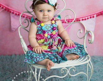 Made to match Maddie Flutter Dress by Amy's Buttons & Bows Chunky Necklace for Little Girls
