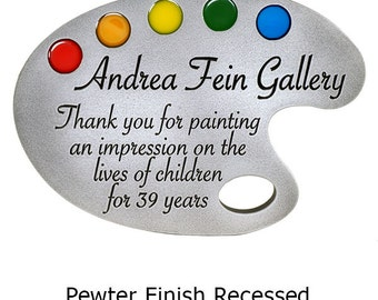 "Paint Pallette Plaque with colored details 12"" x 8.5"" by Atlas Signs and Plaques"