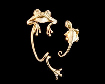 EAR CUFF SPECIAL Frog and Gecko Ear Cuff Combo - Buy 2 Get 1 Ear Cuff Free - Frog Jewelry Gecko Jewelry - Frog Ear Cuff Gecko Ear Cuff