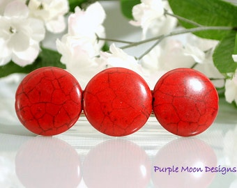 Red Barrette, Red Hair Clip
