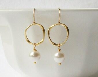Pearl Eternity Dangle Earrings Valentine