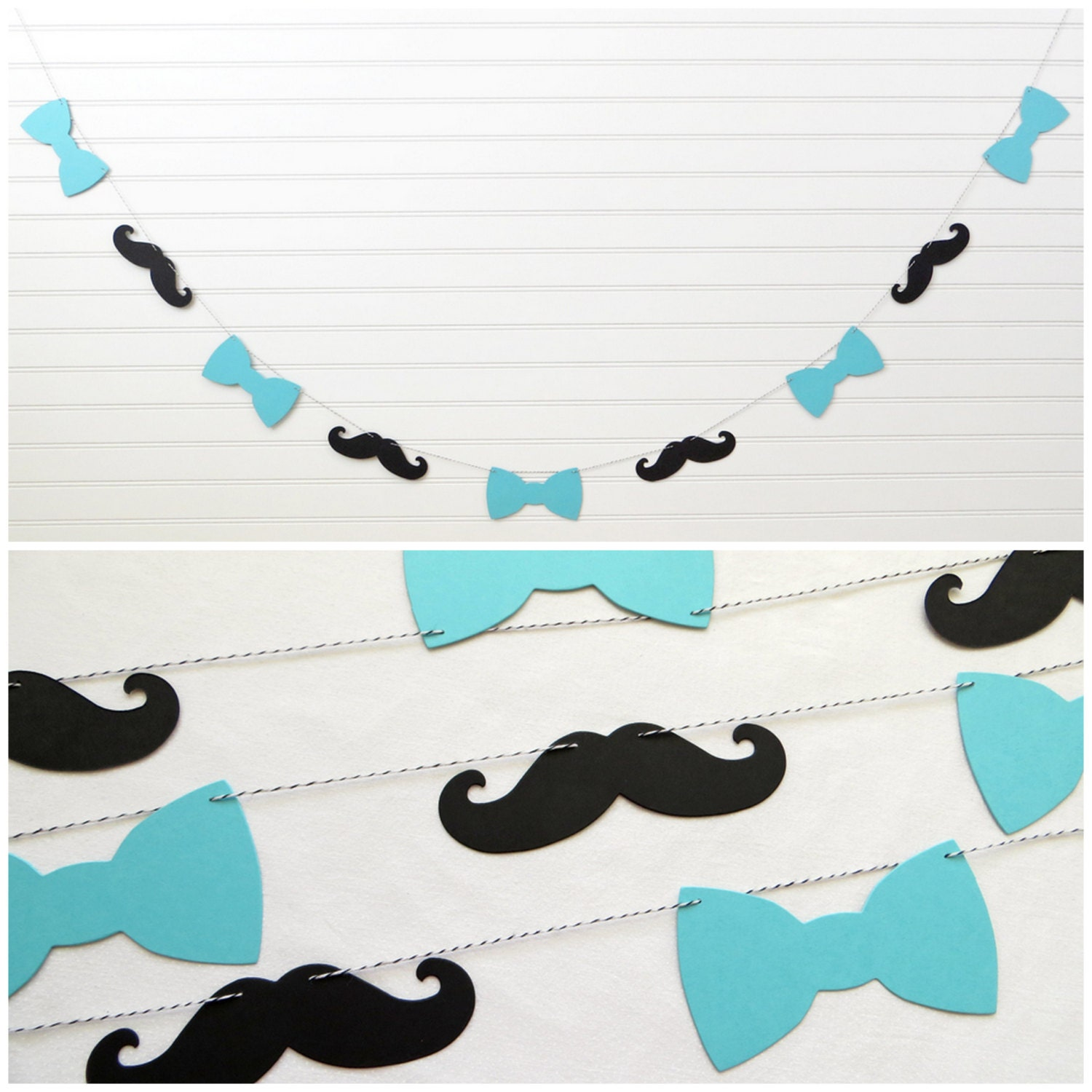 bow tie mustache garland baby boy garland by freshlemonblossoms