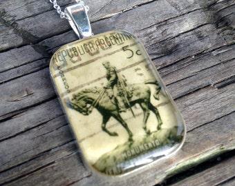 War Horse Pendant Necklace