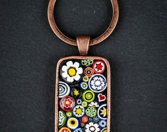 My Millie Garden Mosaic Keychain - Wearable Art