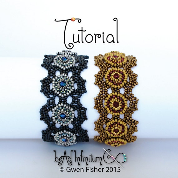TUTORIAL Solaris Bracelet Beaded Honeycomb Angle Weave with Button Clasp