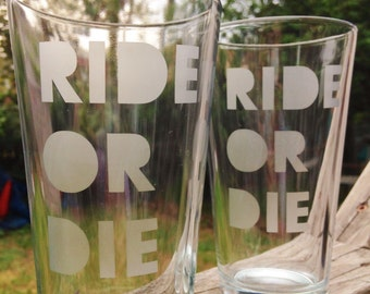 Ride Or Die Pint Glass Set