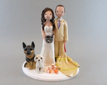 Firefighter & Pharmacist Personalized Wedding Cake Topper