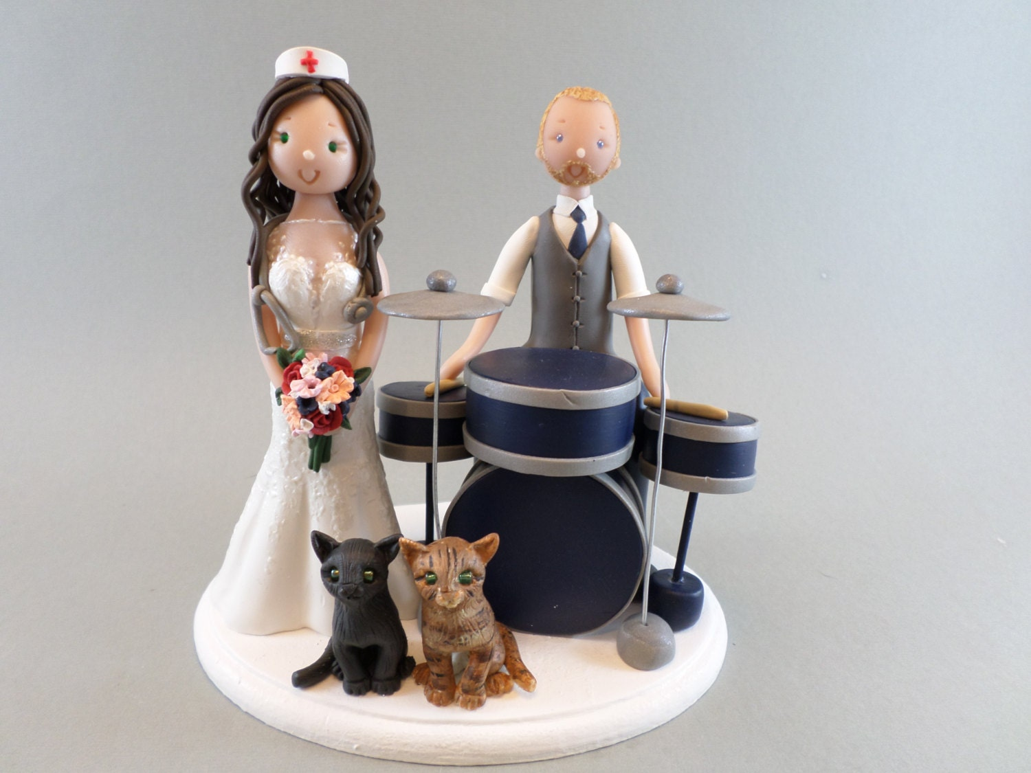drummer wedding cake topper amp drummer personalized wedding cake topper 13755