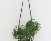 Large Half Moon Hanging Planter in Brick  - Made to Order