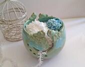 Jumbo Yarn Bowl for Knitting - 4 birds - 2 slots