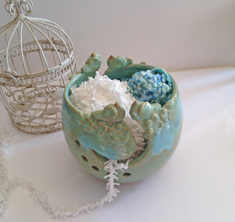 Knitting Yarn Bowl : Jumbo yarn bowl for knitting birds slots