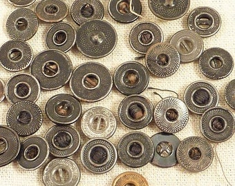 SALE --- Antique Group of Varied Metal Rivet Buttons