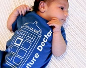 Future Doctor- Doctor Who Baby One Piece Bodysuit- Pick Your Size