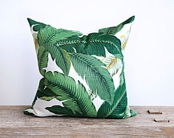 banana leaf fabric pillow cover decorative 20""