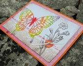 Watercolor Butterfly Birthday Card