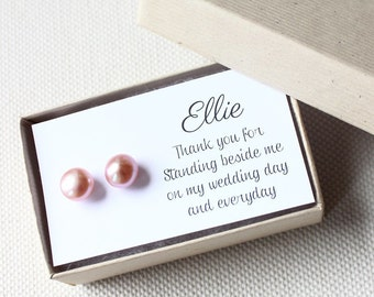 Bridesmaid Gift Card | Bridesmaid Jewelry | Personalized Bridesmaid Gift | Bridesmaid Card [Add-On: Jewelry Gift Note]