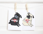 Pug Tattoo Mother's Day Card - Card for Mom - Mom Birthday Card - Pug Mom Card - Mum Card - Mother Card - All You Need is Pug®