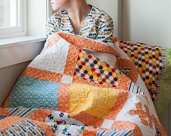 SUMMER SALE - Quilt Kit - Blue Sashing - Pieces of Hope 2 - Riley Blake Designs