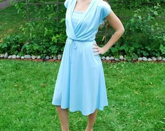Vintage Light Blue Sweet Little Dress