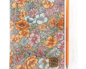 A6 Journal - Cottage garden floral vintage fabric