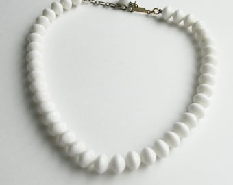 Simple White TRIFARI Beaded Necklace