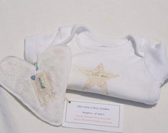 Pink Little Star Baby Onesie Size 3to6 Months-Newborn Baby Gift-Newborn Baby Girl Bodysuit