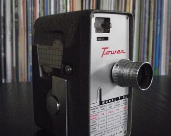 Mid Century Tower Model T 92 8mm Movie Camera