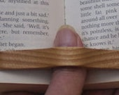 Thumb book page holder in English Ash