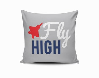 Airplane Pillow Cover, Nursery Pillow Cover, Kids Throw Pillow, Airplane Throw Pillow, Airplane Nursery Pillow Cover, Airplane Nursery Decor