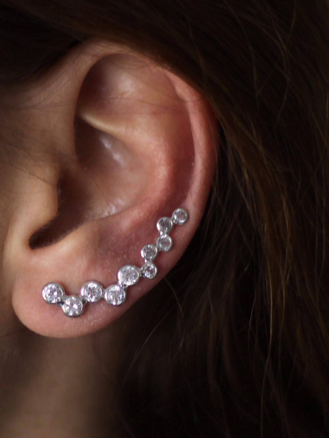 ear cuff sterling silver pair of ear cuffs minimalist. Black Bedroom Furniture Sets. Home Design Ideas