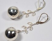 Sterling Silver Cherry Earrings-Reduced