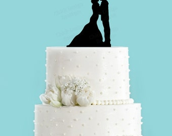 Navy Sailor Couple Acrylic Wedding Cake Topper