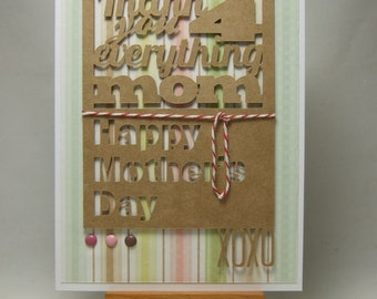 Thank you 4 everything Mom - Mother's Day Card