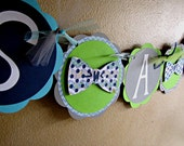 Bow Tie Party Banner, It's A Boy Bow Tie Banner, Bow Tie Baby Shower Banner, Bow Tie Birthday Banner, Little Man Banner, Boy 1st Birthday