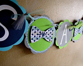 Bow Tie Banner, It's A Boy Bow Tie Banner, Bow Tie Baby Shower Banner, Bow Tie Birthday Banner, Little Man Party Banner, Boy 1st Birthday,