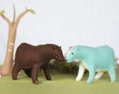 Woodland Bear Pattern * Felt Stuffed Animal Pattern * Stuffed Bear Grizzly or Polar Bear * PDF Printable Sewing Pattern