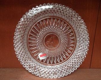 1978 Avon Fostoria American Lead Crystal Award Plate