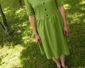 Vintage County Fair Dress Cotton Gathered Dress Women's Clothing